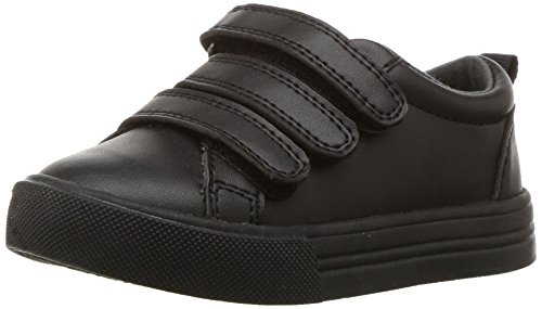 Oshkosh B'Gosh  Boys' Lennox Triple Strap Sneaker, Black, 8 M US Toddler