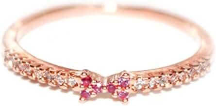 18K Mini Pink Ribbon Ring - Rose Gold / White Gold Plated (Size 4-8)