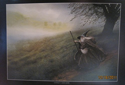 LOTR Hobbit Frameable Fine Art Poster GANDALF 2nd Edition 1999 JOHN -