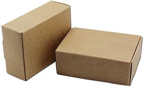 HOME+A 20 Piezas de Papel Kraft marrón Natural, Caja de Embalaje ...