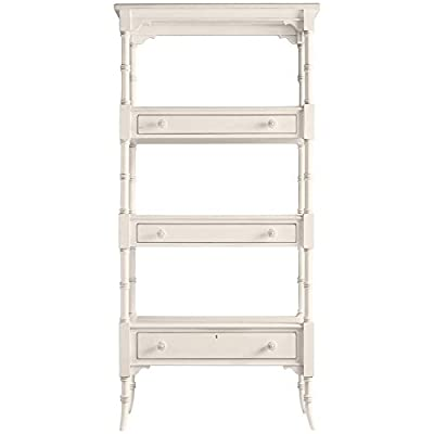 Stanley Furniture Coastal Living Cottage Etagere - Collection: Coastal Living Cottage Finish: Sand Dollar; Three drawers Made in Indonesia - living-room-furniture, living-room, bookcases-bookshelves - 41MpynGxnaL. SS400  -