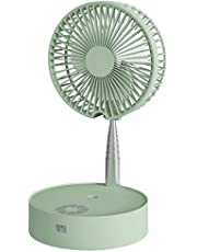 Portable Fan Folding Misting Fan, N97 Outdoor Standing Fans USB Rechargeable Stand Fan with Lights and Remote Control with 4 Speed Humidifying Spray Fan