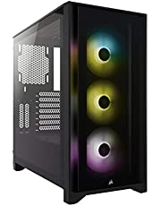 Corsair Cc-9011204-Ww Icue 4000X Rgb Temperli Cam Yan Panel Mid Tower Bilgisayar Kasası Siyah