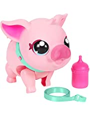 Little Live Pets - My Pet Pig | Soft and Jiggly Interactive Toy Pig That Walks, Dances and Nuzzles. 20+ Sounds & Reactions. Batteries Included. for Kids Ages 4+