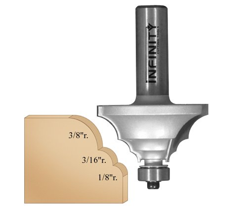 Multi-Radius Router Bit w/ 3-Pc. Bearing Kit
