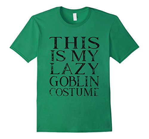 Mens Green Goblin Costume (Mens This is my lazy goblin costume halloween shirt 3XL Kelly Green)