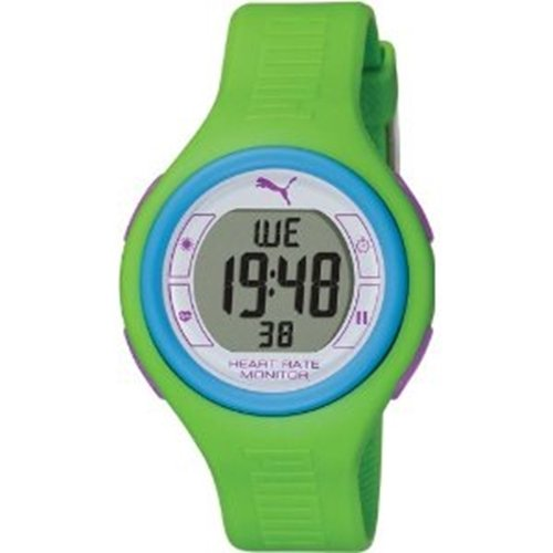 Puma Pulse HRM Multi-Function Digital Watch - Womens - green, one size