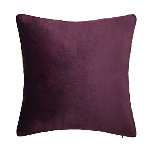 KingRose Deluxe Solid Velvet Euro Cushion Sham Home Décor Throw Pillow Cover Bed Living Room Sofa Couch Chair 24 x 24 Inches ()