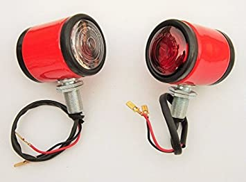 JCB Fastrac pair Tail Rear light lamp with 12 V bulbs