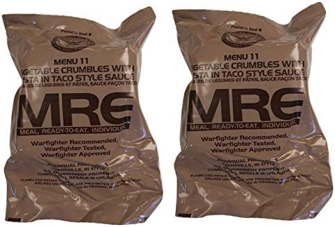 A-Pack Meals Self Heating Lot Of 12 MRE Case Vegetarian Taco Pasta