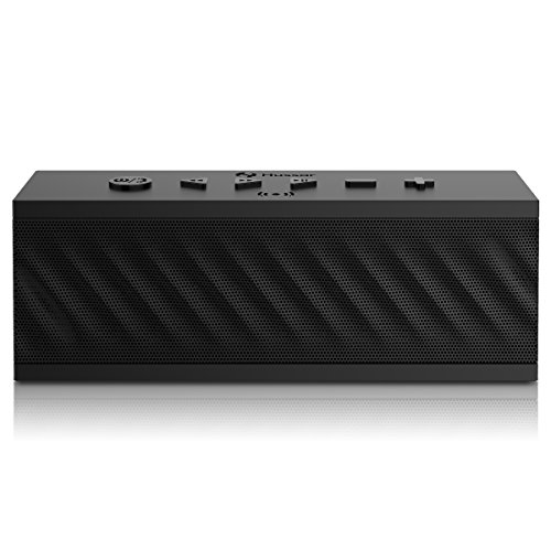 HUSSAR Bluetooth Speakers, 16W Portable Wireless Speaker, Premium Sound with Enhanced Bass and Selectable Sound Effects, IPX5 Waterproof, Built-in Mic with Siri