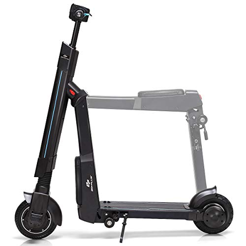 Goplus Electric Kick Scooter, Foldable and Portable Design, Speed Up to 15.5MPH, 12.5 Mile Range of Riding (Unfoldable)