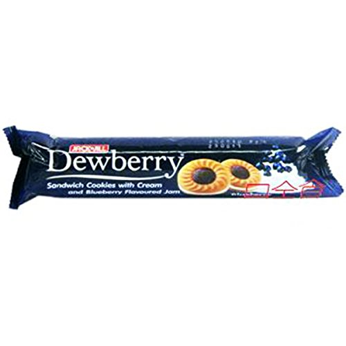 Dewberry, Sanwich Cookies with Cream and Blueberry Flavoured Jam, 105 G