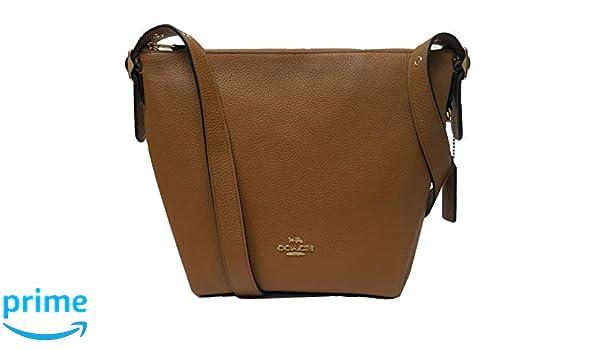 d536290f6 Coach - Leather Danny Duffle Handbag - Light Saddle - F34767: Handbags:  Amazon.com