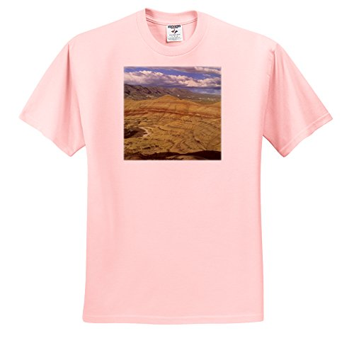 Danita Delimont - Oregon - Oregon, John Day Fossil Beds, Painted Hills Unit - US38 KSC0013 - Kevin Schafer - T-Shirts - Adult Light-Pink-T-Shirt Large (ts_93875_36)