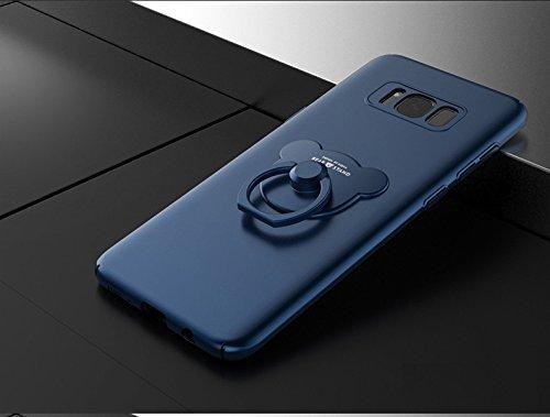 Samsung Galaxy S8 / S8 Plus , Manyip Cases and covers Alta Calidad Ultra Slim Anti-Rasguño y Resistente Huellas Dactilares Totalmente Protectora Caso de Plástico Duro Cover Case,+Ring stand holder(AQM D