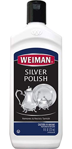 Weiman Silver Polish and Cleaner - 8 Ounce - Clean Shine and Polish Safe Protective Prevent Tarnish