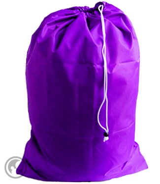 Large Laundry Bag with Drawstring and Locking Closure - Color: Purple,Size: 30x40