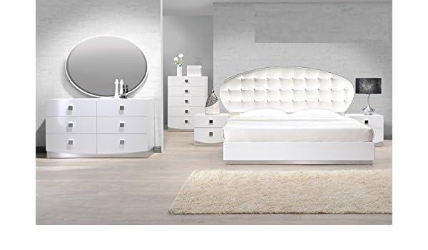 Amazon.com: Modern France 4 Piece Bedroom Set California King Size ...