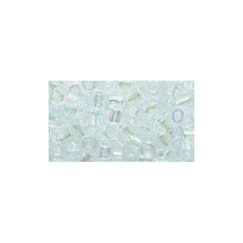 Miyuki Delica Seed Bead 8/0 DBL0051, Crystal Aurora Borealis Finish, 8-Gram/Pack
