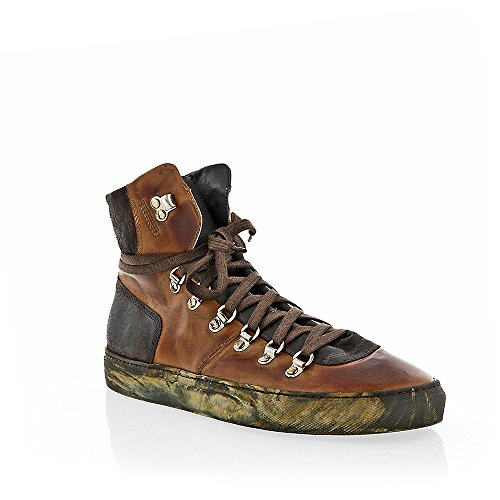 The Original Shoes Brown Lace Up High Top Sneaker by The Original Shoes
