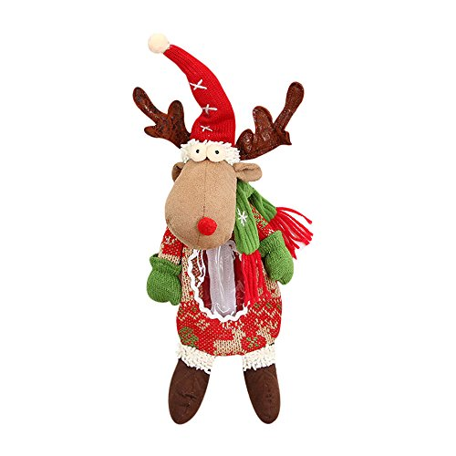 Willsa Cute Exquisite Santa Claus Snowman Elk Christmas Candy Packaging Christmas Candy Decoration ()