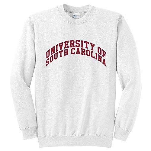 White South Carolina Sweatshirt - NCAA South Carolina Fighting Gamecocks Crewneck Sweatshirt, White, Large/Tall