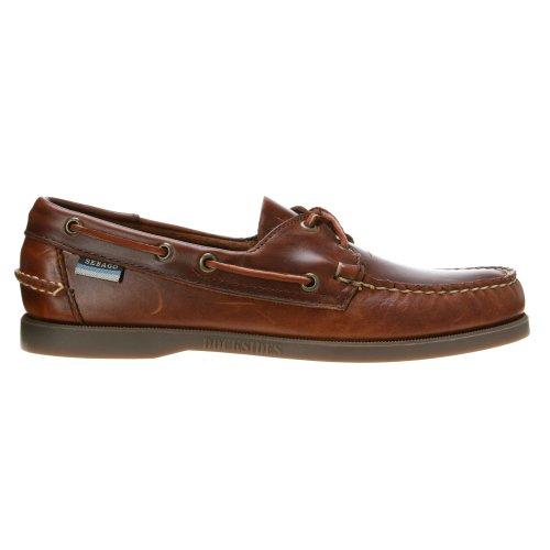 SEBAGO - Herren- Braune Glattleder-Bootsschuhe Docksides für herren