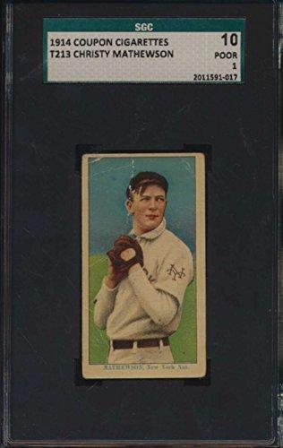 1914 T213-2 Coupon Cigarettes #112 Christy Mathewson HOF SGC 10 P 1 43701