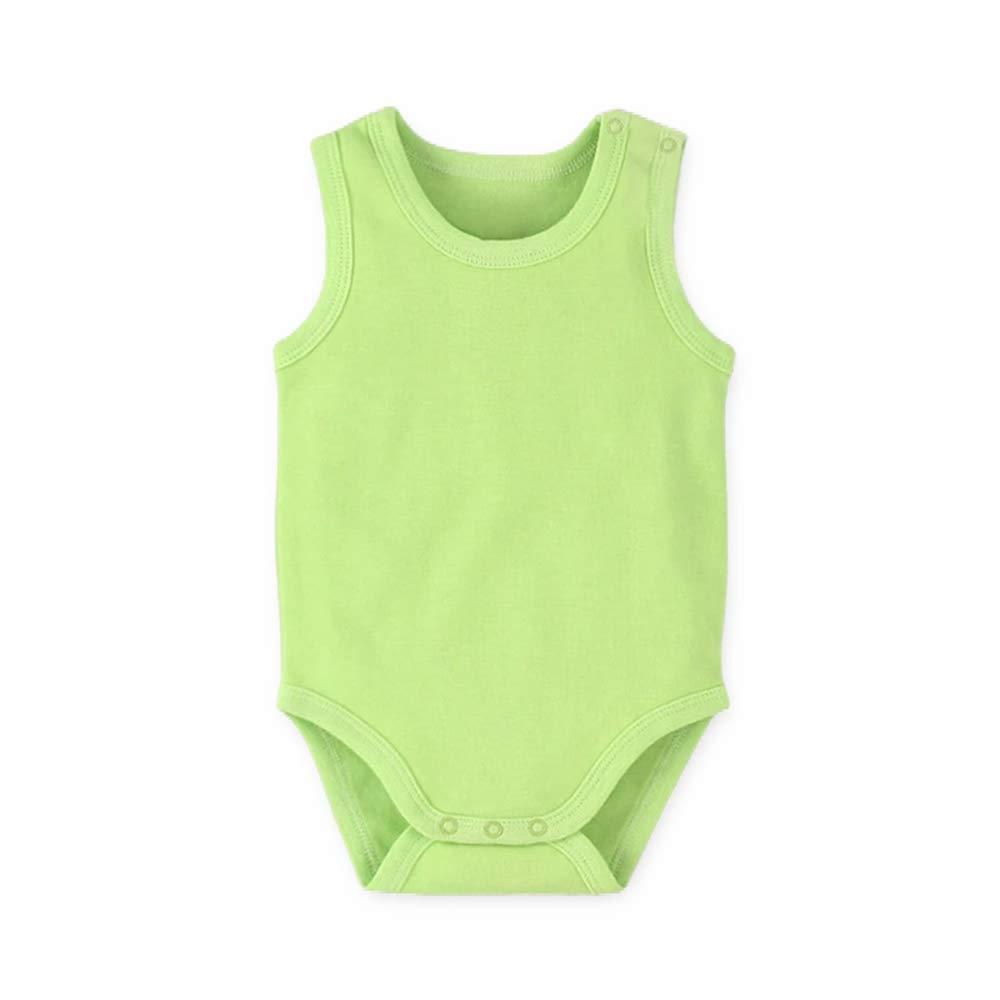Jungen M/ädchen Achselbody Einfarbig und Aufdruck Bodys Sommer Baumwolle Body Neugeborenen Spielanzug 0-36 Monate GOWE Unisex Baby Strampler