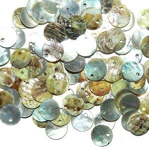- S122 Light Gray Mussel Shell 10mm Round Top-Driled Coin Drop Gemstone Bead 100pc Making Beading Beaded Necklaces Yoga Bracelets