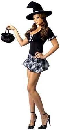 Disfraz de Bruja Colegial Sexy Halloween: Amazon.es: Ropa y accesorios