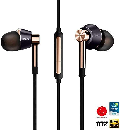 1MORE E1001-GOLD Triple Driver In Ear Headphones Gold