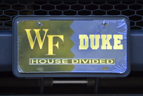 Wake Forest/Duke House Divided Laser Cut Car Tag Duke House Divided