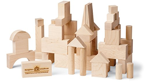 My Best Blocks - Junior Builder - Made in USA, 41 pieces - Maple Blocks Set