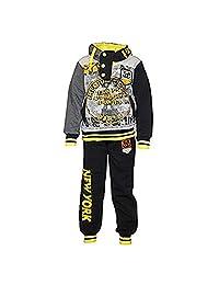 Eskaay Kids Boys Sweatsuit Tracksuit Sweatshirt Sweatpant Hooded Two Piece Set