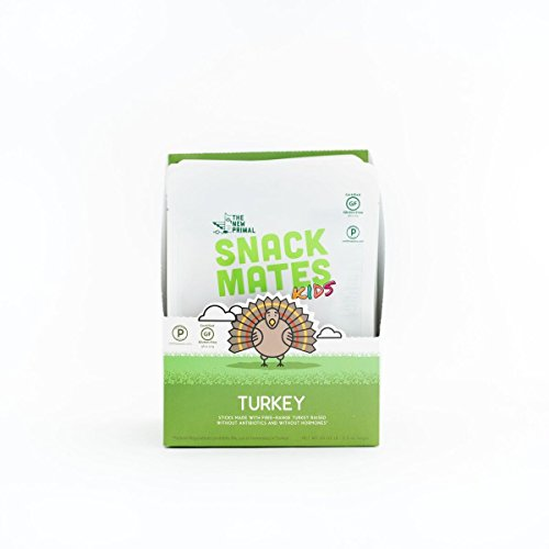 - The New Primal Free-Range Turkey Meat Sticks for Kids, High Protein, Low Sugar, 8 Count