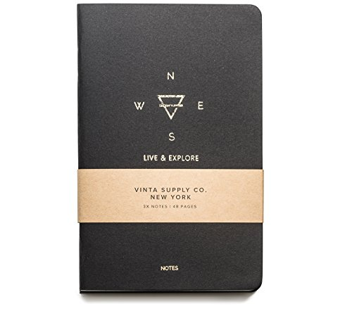 Explore Notes - Travel Notebooks - Black 3-Pack ()