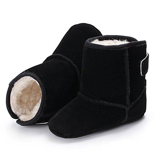 Igemy 1 Paar Baby Mädchen Jungen Weiche Sole Stiefel Infant Kleinkind Neugeboren Warming Schuhe Schwarz