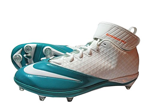 Nike Mens Alfa Pro Mitten Td Pf Vit / Orange / Kricka Delfiner Fotboll Klossarna 544762 183 Storlek 14,5