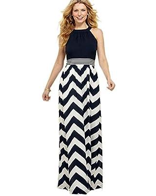 Roiii Women New Long Evening Party Skirt Sleeveless Plus Size Summer Maxi Dress