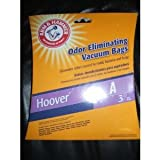 Hoover A - Odor Eliminating Vacuum Bags - Arm & Hammer - 3 Bags