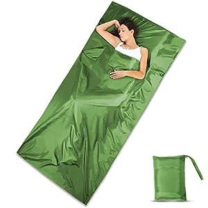 DIMPLES EXCEL 100% Silk Sleeping Bag Liner Travel Sheet Lightweight Portable for Single