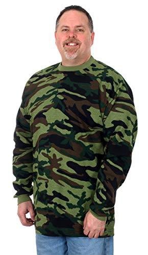 BNK Men's Long Sleeve Thermal Shirt (2X, Green Camo) ()