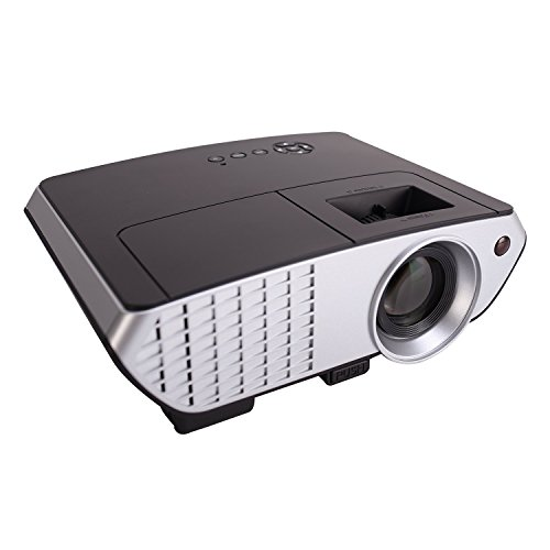 Video Projector,XINDA 2018 Updated 2000 Lumens LCD LED Multimedia Portable mini Video Projector Home Theater Cinema Movie Projector Support HD 1080P PRJ003Black
