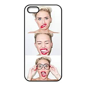 DiyCaseStore Miley Cyrus Cute Funny face iPhone 5 5S New Style Durable Case Cover