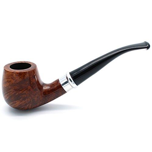 Mr. Brog Handmade Smoking Tobacco Pipe - Model No. 85 Schmidt Light Walnut - Mediterranean Briar Wood