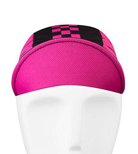 Pink Checkers Cycling Cap - Made in the USA by Aero Tech Designs (Image #4)