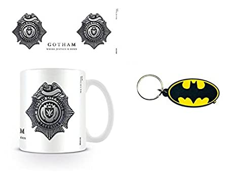 Amazon.com: Set: Gotham, GCPD Badge Foto Taza de café (4 x 3 ...