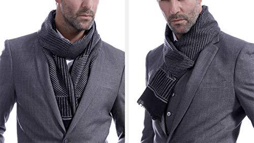 180cm per Amdxd Sciarpa l'autunno nero Cashmere Band Men inverno Moda Scarf wq1wPz
